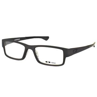 Oakley Airdrop OX8046-0157 Satin Black Plastic Rectangle 57mm Eyeglasses