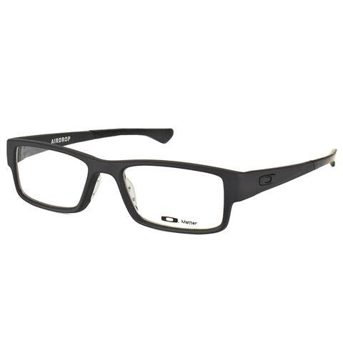 Oakley Airdrop OX8046-0155 Satin Black Plastic Rectangle 55mm Eyeglasses