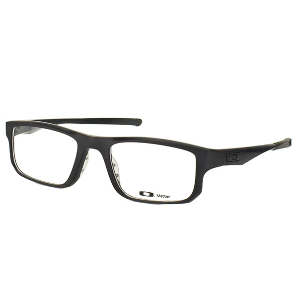 85ab64007d7 Oakley Voltage OX8049-0153 Satin Black Plastic Rectangle 53mm Eyeglasses