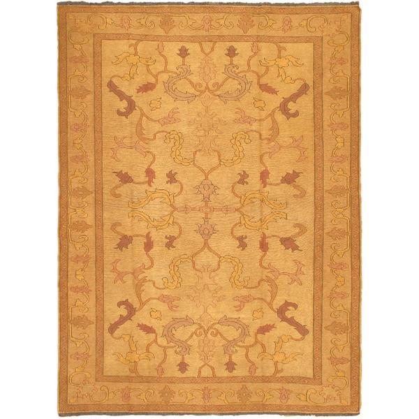 ecarpetgallery Handmade Shiravan Sumak Yellow Wool Sumak Rug (6'9 x 8'9)