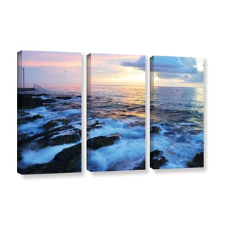 Kathy Yates's 'Paraiso Reef' 3 Piece Gallery Wrapped Canvas Set