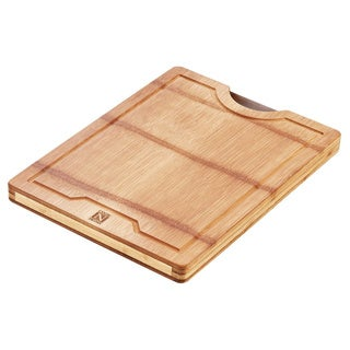 Cook N Home Natural Bamboo Cutting Board Reversible with Handle,