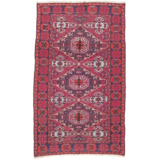 ecarpetgallery Handmade Nomad Red Wool Sumak Rug (6'3 x 10'4)