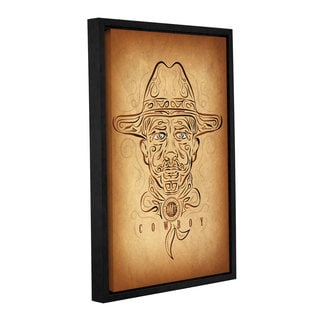 Greg Simanson's 'Cowboy' Gallery Wrapped Floater-framed Canvas