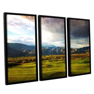 Greg Simanson's 'Day At The Range' 3 Piece Floater Framed Canvas Set