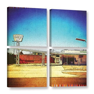 Greg Simanson's 'Fuel' 4 Piece Gallery Wrapped Canvas Square Set