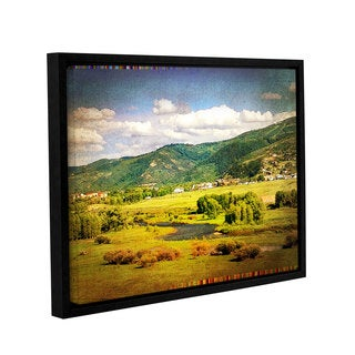 Greg Simanson's 'Hills' Gallery Wrapped Floater-framed Canvas