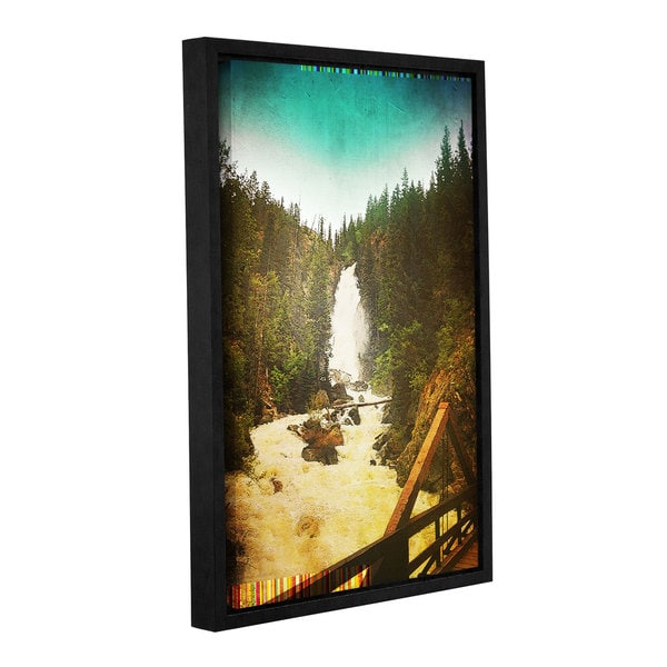 Greg Simanson's 'Pines' Gallery Wrapped Floater-framed Canvas