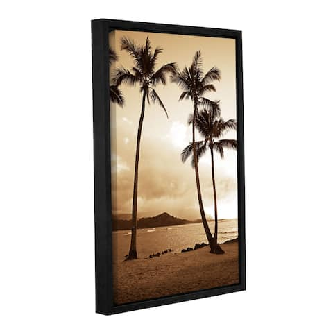 Kathy Yates's 'Bali Hai Island Time' Gallery Wrapped Floater-framed Canvas