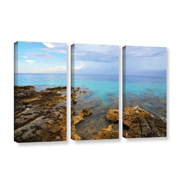 Kathy Yates's 'Caribbean Dreams' 3 Piece Gallery Wrapped Canvas Set - Multi