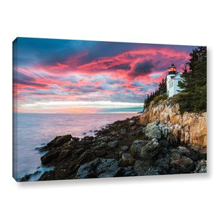 Cody York's 'Bass Harbour Light Head' Gallery Wrapped Canvas