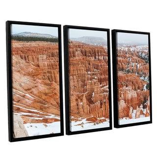 Cody York's 'Bryce Canyon ' 3 Piece Floater Framed Canvas Set