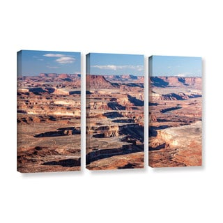 Cody York's 'Canyonlands Horizontal' 3 Piece Gallery Wrapped Canvas Set