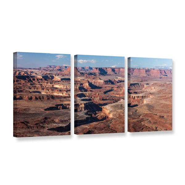 Cody York's 'Canyonlands Panoramic' 3 Piece Gallery Wrapped Canvas Set