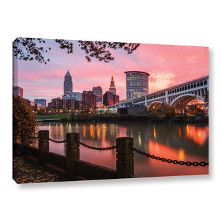 Cody York's 'Cleveland Sunrise From The Flats' Gallery Wrapped Canvas