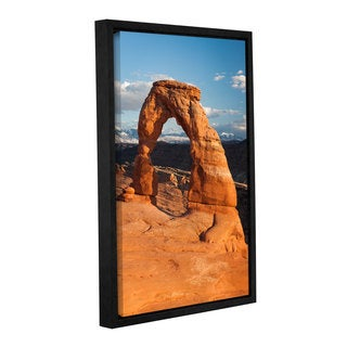 Cody York's 'Delicate Arch Daytime Vertical' Gallery Wrapped Floater-framed Canvas