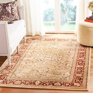 Evan Gold And Rust Traditional Area Rug 7 6 X 9 6