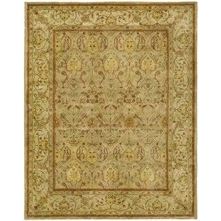 Safavieh Handmade Persian Legend Moss/ Beige Wool Rug (9' x 12')