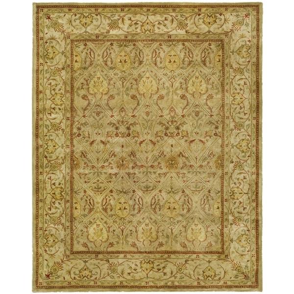 Safavieh Handmade Persian Legend Moss/ Beige Wool Rug - 9' x 12'