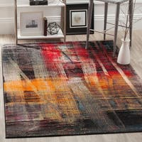 Safavieh Porcello Modern Abstract Brushstrokes Multicolored Rug - 8' x 10'