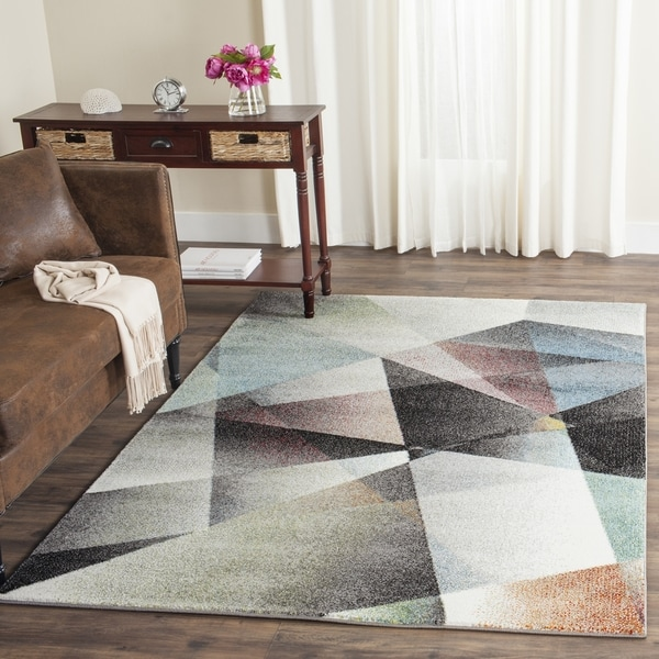 Safavieh Porcello Modern Abstract Grey Multi Rug 8 X