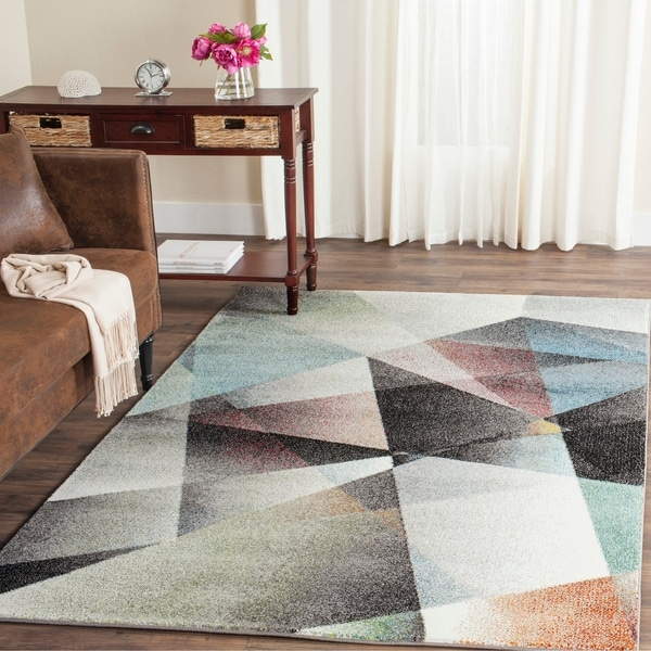Shop Safavieh Porcello Modern Abstract Grey/ Multi Rug