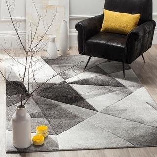 Safavieh Porcello Modern Abstract Light Grey/ Charcoal Rug (8' x 10')