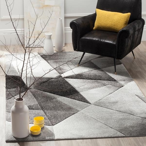 Safavieh Porcello Modern Abstract Light Grey/ Charcoal Rug - 8' x 10'