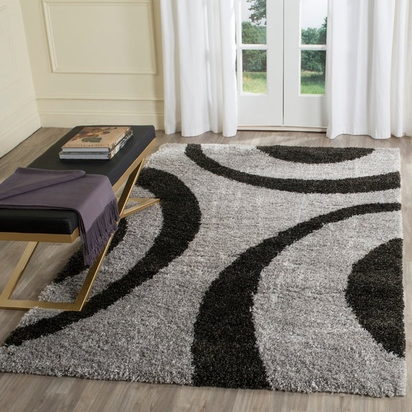 Safavieh Portofino Shag Grey/ Black Rug - 8' x 10'
