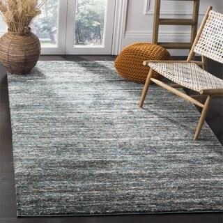 Safavieh Retro Ivory/ Turquoise Rug (9' x 12')