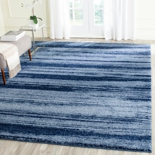 Safavieh Retro Modern Abstract Light Blue/ Blue Distressed Rug (8' x 10')