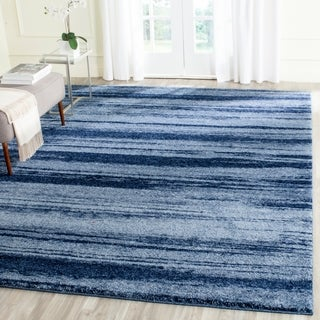 Safavieh Retro Modern Abstract Light Blue/ Blue Distressed Rug (8' x 10')