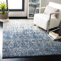 Safavieh Retro Mid-Century Modern Abstract Light Blue/ Blue Distressed Rug - 8' x 10'