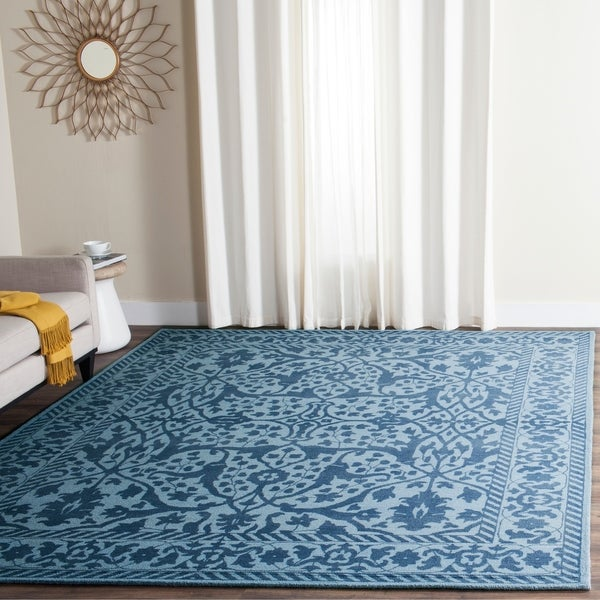 Safavieh Handmade Restoration Vintage Blue/ Dark Blue Wool Rug - 8' x 10'