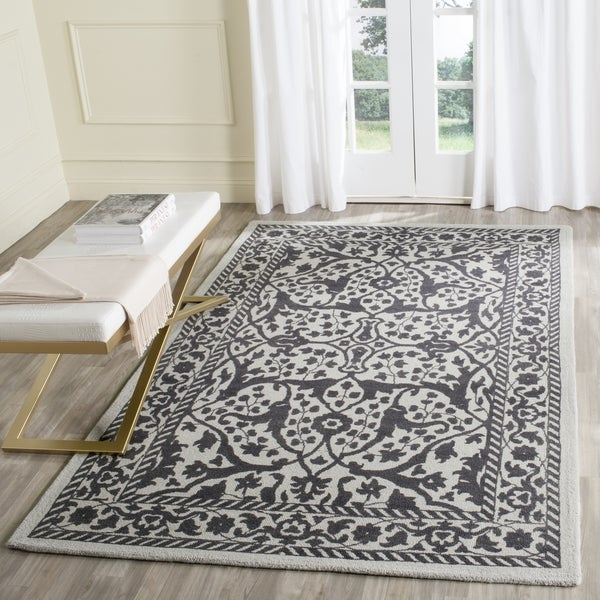 Safavieh Handmade Restoration Vintage Silver/ Grey Wool Rug - 8' x 10'