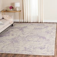 Safavieh Handmade Restoration Vintage Grey / Ivory Wool Distressed Rug - 8' x 10'