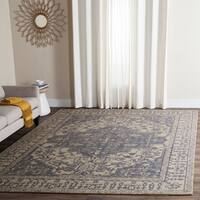 Safavieh Handmade Restoration Vintage Oriental Blue/ Grey Wool Rug - 8' x 10'