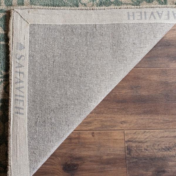 Safavieh Handmade Restoration Vintage Oriental Grey / Ivory Wool Rug - 8' x 10'