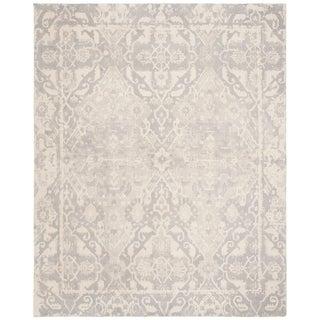 Safavieh Handmade Restoration Vintage Light Grey/ Ivory Wool Rug (8' x 10')