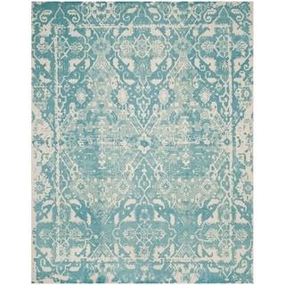 Safavieh Handmade Restoration Vintage Light Blue/ Ivory Wool Distressed Rug (8' x 10')