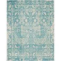 Safavieh Handmade Restoration Vintage Light Blue/ Ivory Wool Distressed Rug - 8' x 10'