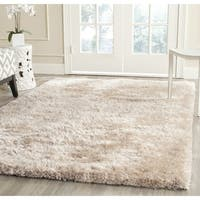 Safavieh Handmade South Beach Champagne Polyester Rug - 10' x 14'