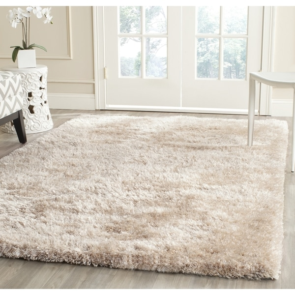 Safavieh Handmade South Beach Champagne Polyester Rug (10' x 14')