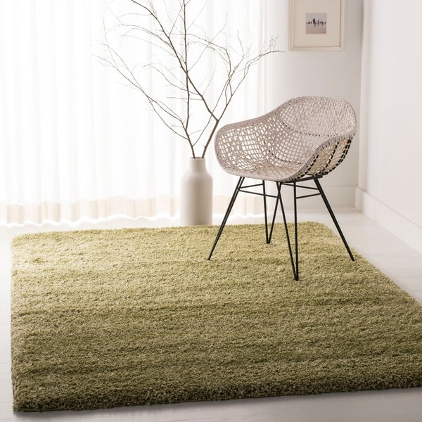 "Safavieh California Cozy Plush Green Shag Rug - 8'6"" x 12'"