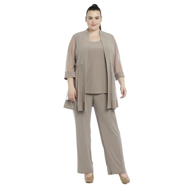 9dea850cd73 Shop R M Richards Plus-size Pant Set - Free Shipping Today - Overstock.com  - 11741739