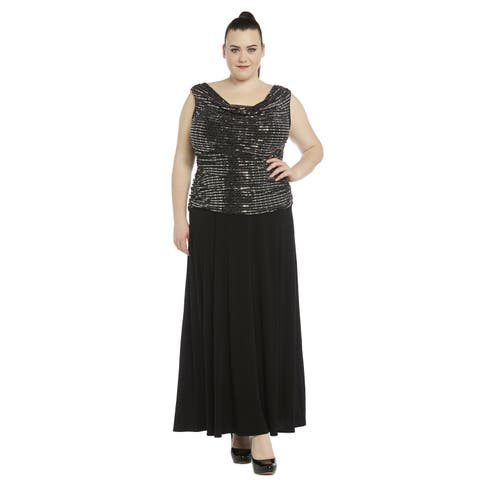 R&M Richards Women's Plus-size Gown