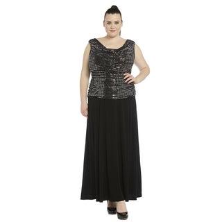 R&M Richards Women's Plus-size Gown