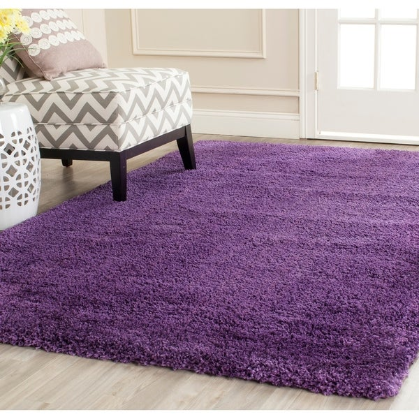 Safavieh Milan Shag Purple Rug - 10' x 14'