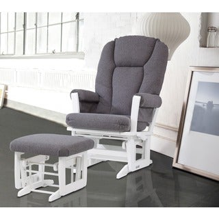 Ultramotion by Dutailier Multiposition Reclining Modern Glider with Nursing Ottoman
