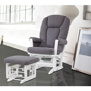 Dutailier Multiposition Reclining Modern Glider with Nursing Ottoman